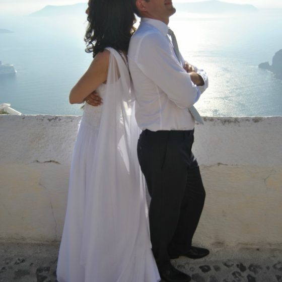Bohemian Wedding In Santorini